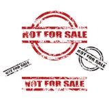 不为销售额grunge印花税集 免版税图库摄影