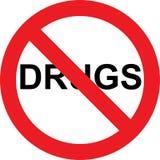 不使符号服麻醉剂 免版税库存照片