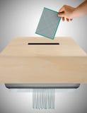 不值得的选票 免版税库存照片