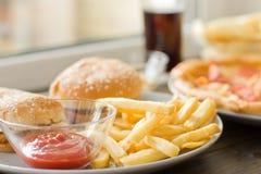 不健康的概念 不健康的食物 免版税库存图片