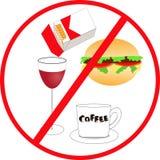 不健康的食物和饮料 免版税图库摄影