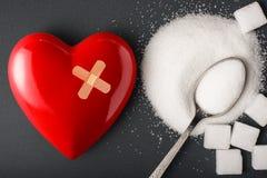 不健康的食物概念-糖 免版税库存图片