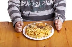 不健康的食物 库存图片