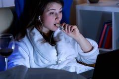 不健康的饮食习惯 免版税库存图片