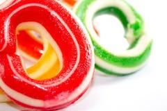 不健康,但是一个美味的圆环糖 免版税图库摄影