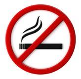 不允许的抽烟 免版税库存照片