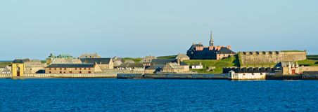 不列塔尼的海角堡垒louisbourg 免版税库存照片