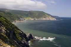 不列塔尼的海角海岸海岛 免版税库存照片