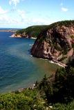 不列塔尼的海角海岸线 免版税库存图片