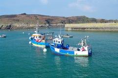 不列塔尼的渔船 免版税库存照片