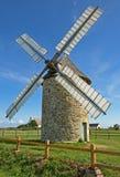 不列塔尼的风车 库存照片