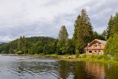 不列颠哥伦比亚省村庄房子 免版税库存照片
