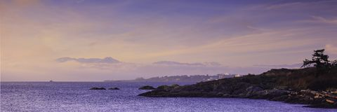 不列颠哥伦比亚省海岸线 库存图片
