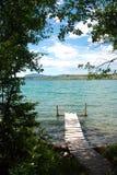不列颠哥伦比亚省湖tatla 库存图片