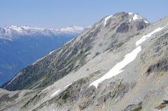 不列颠哥伦比亚省的沿海山脉 库存照片