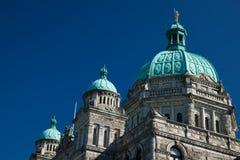 不列颠哥伦比亚省省议会在维多利亚 免版税库存照片