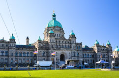 不列颠哥伦比亚省议会大厦在维多利亚,加拿大 库存照片
