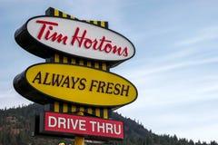 不列颠哥伦比亚省,加拿大北美- 8月11日:钛的标志 库存照片