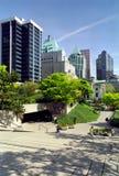不列颠哥伦比亚省robson正方形温哥华 库存图片