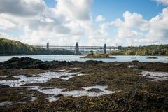 不列颠尼亚桥梁, Anglesey 免版税库存照片