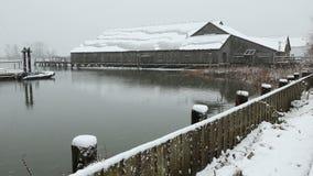 不列颠尼亚遗产造船厂雪,里士满, BC 股票录像