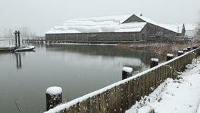 不列颠尼亚遗产造船厂雪, Steveston 影视素材