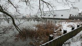 不列颠尼亚遗产造船厂暴风雪,里士满, BC 股票录像