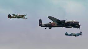 不列颠战役纪念品飞行 免版税图库摄影
