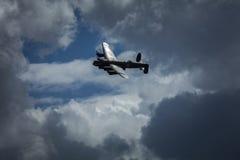 不列颠空战纪念飞行的阿弗罗兰卡斯特轰炸机PA474在皇家空军Coningsby,林肯郡,英国- 2017年8月的 免版税库存照片
