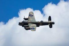 不列颠空战纪念飞行的阿弗罗兰卡斯特轰炸机PA474在皇家空军Coningsby,林肯郡,英国- 2017年8月的 库存照片