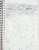 不加考虑表赞同的人象系列在白纸的 免版税库存图片