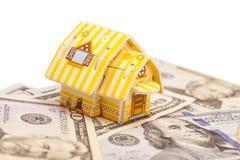 不动产企业概念 财务抽象背景钞票的美元 免版税库存图片