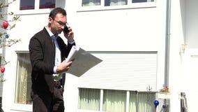 不动产房地产经纪商等待客户 影视素材