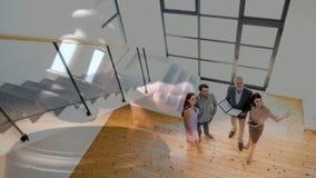 不动产房地产经纪商结合的陈列房子的数字动画 股票视频