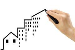 不动产投资是正面的 免版税库存照片