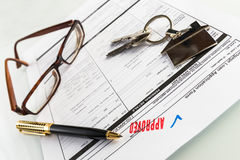 不动产抵押批准的贷款协议 图库摄影