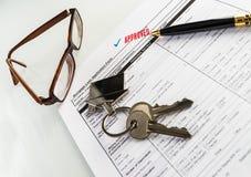 不动产抵押批准的贷款协议 免版税库存照片