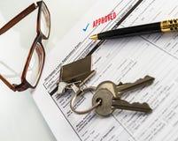 不动产抵押批准的贷款协议 库存照片