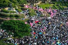 不受惩罚比尔抗议在泰国 库存照片