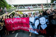 不受惩罚比尔抗议在泰国 图库摄影