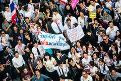 不受惩罚比尔抗议在泰国 免版税库存图片