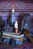 不可思议咒语 Wiccan咒语和草本 图库摄影