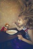 不可思议的儿童的午餐 库存图片