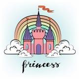不可思议的公主城堡 库存照片