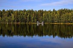不可思议的北瑞典边界witn芬兰 免版税图库摄影