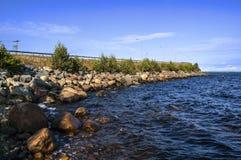 不可思议的北瑞典边界witn芬兰 库存图片