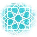 不可思议的圈子,神圣的几何,发光的霓虹线 免版税库存照片