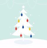 不可思议的圣诞树 免版税库存图片