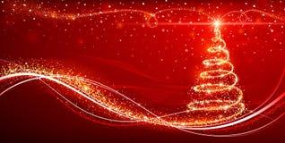 不可思议的圣诞树 免版税库存照片
