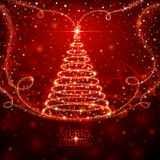 不可思议的圣诞树 库存照片